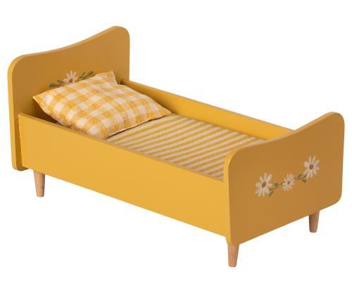 Puppenbett gelb Holz Mini Maileg
