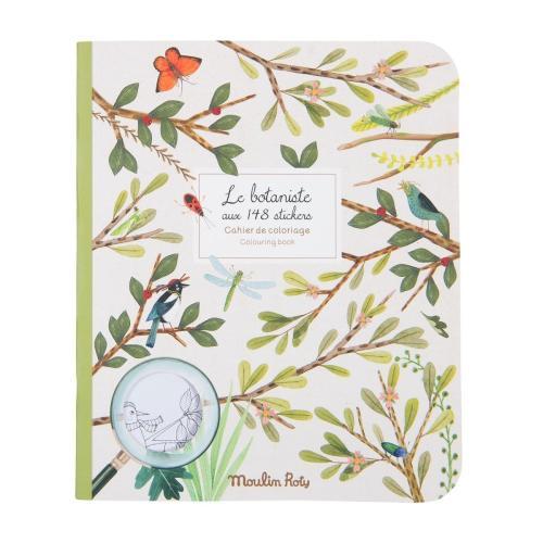 Moulin Roty Mal- und Stickerbuch Le botaniste