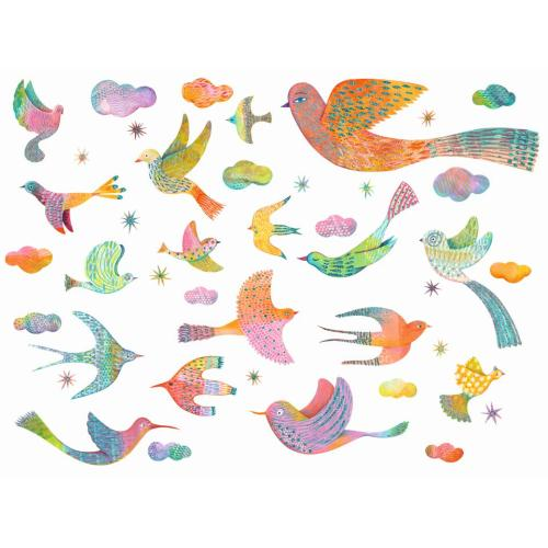 Wallsticker - Bling bling birds - Djeco