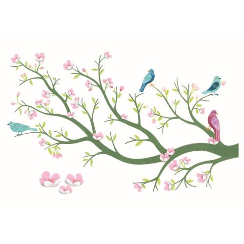 Wallsticker - Cherry Tree 3D - Djeco