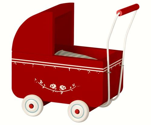 Maileg Puppenwagen rot micro  bei your little kingdom