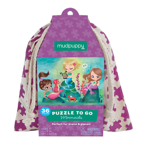 3-5 - Puzzles - Puzzle to go Meerjungfrau - Mudpuppy