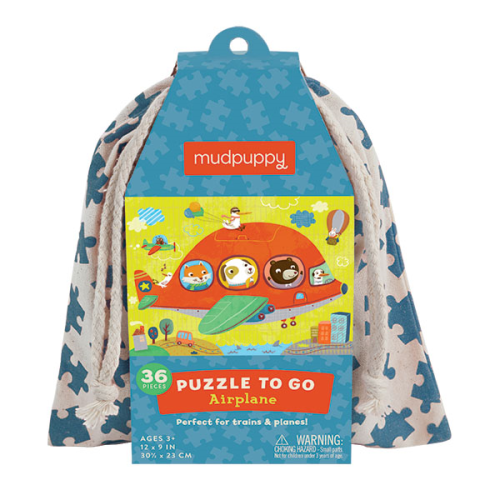 3-5 - Puzzles - Puzzle To go Airplane (3+) - Mudpuppy