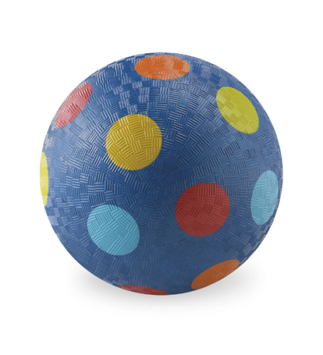 Ball - 13 cm - Blau mit Punkten - Crocodile Creek