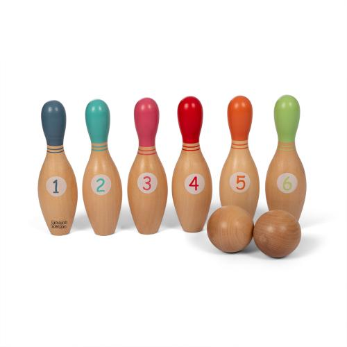 Bowlingset Holz von Mamamemo bei your little kingdom in Reihe