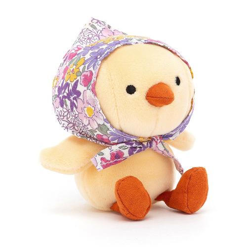 Jellycat Küken Betty Bonnet gelb