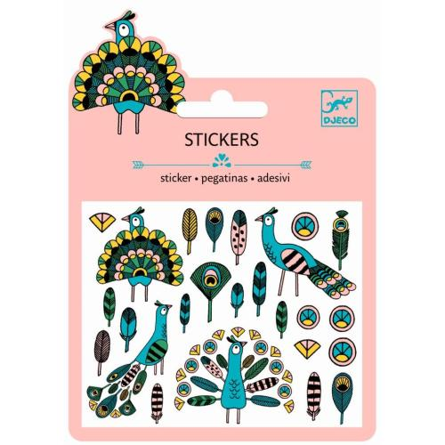 Sticker - Mini Craft Pack - Federn & Pfau - DJECO