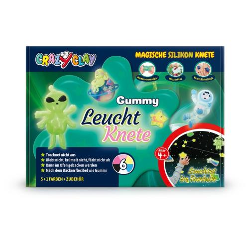 Crazy Clay Gummy Leucht Set