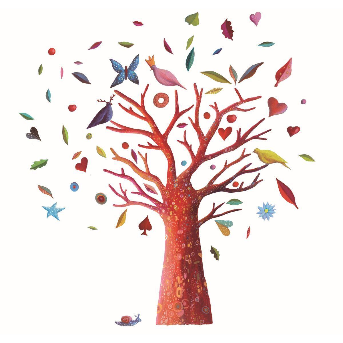 Exquisit Wandsticker Baum Galerie Von The Poem Tree Von Djeco