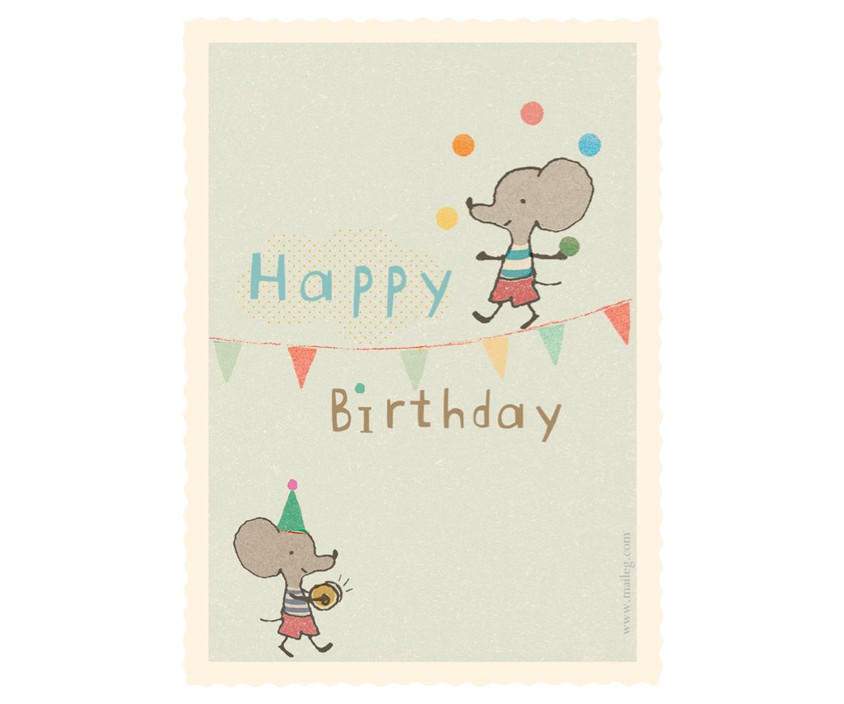 Maileg Karte Geburtstag Kinder Und Babygeschenke