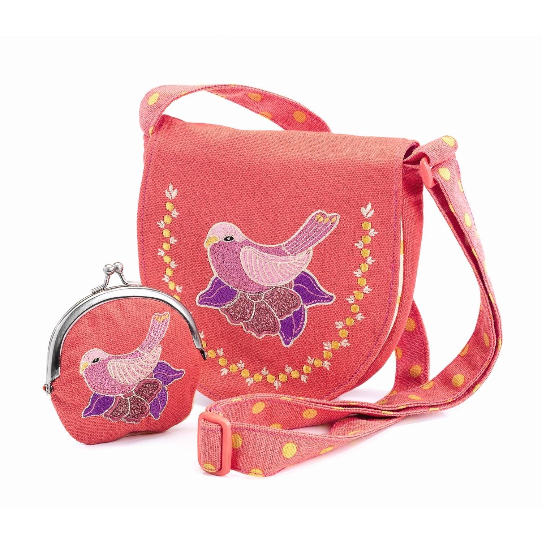 820319b7fe491 Djeco Tasche und Geldbörse mit Vogel - Kinder und Babygeschenke