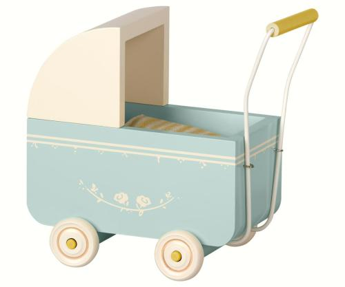 Maileg Puppenwagen blau micro bei your little kingdom
