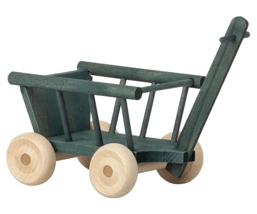 Maileg Bollerwagen Micro petrol grün mint aus Holz bei your little kingdom