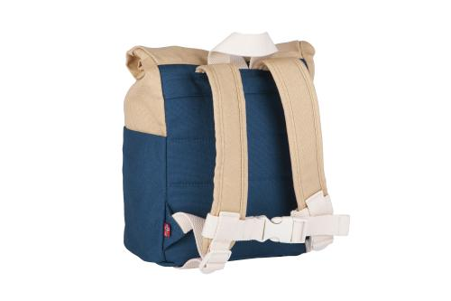 Blafre Kinderrucksack Dunkelblau Rückseite roll top 7L bei your little kingdom