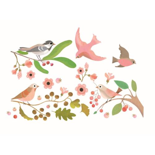 Djeco Fenstersticker Romantic birds