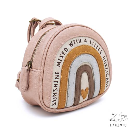 little who Kinderrucksack Frida Regenbogen klein seitlich bei your little kingdom